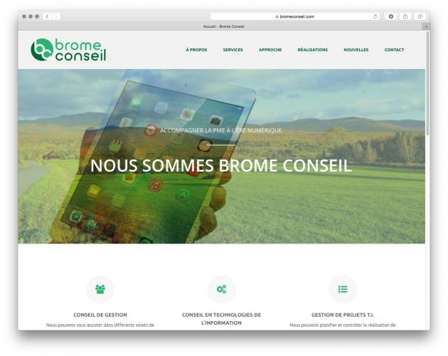 Mise en ligne du site web de Brome Conseil